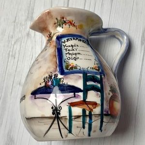 Hand painted Greece vase pitcher